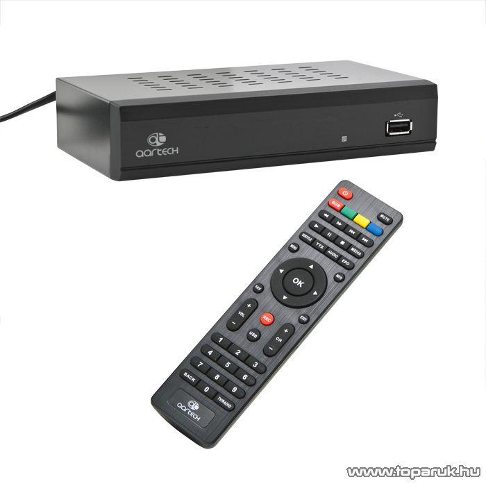 Aartech Terra-X Digitális SET-TOP-BOX, DVB-T földi digitális vevő készülék, dekóder és médialejátszó (39690)