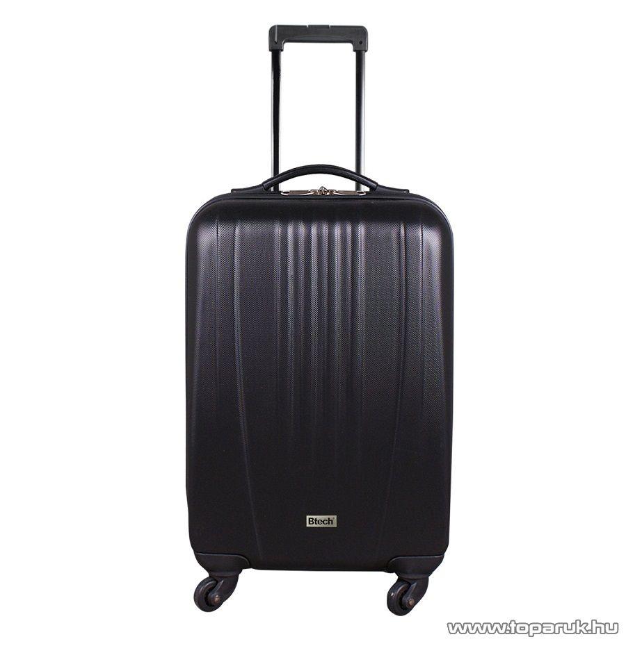 """Btech 4 kerekes állóbőrönd 26""""-os, fekete (8101025)"""