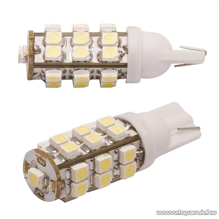 Carguard 25 SMD LED-es izzó helyzetjelző, T10 foglalat, 0,7W, DC12V, 2 db / csomag (51010)