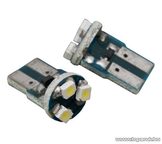 Carguard 3 SMD LED-es izzó helyzetjelző, T10 foglalat, 0,2W, DC12V, 2 db / csomag (51006)