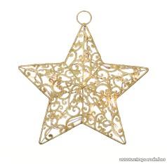 HOME KID 20G/AA Beltéri csillag alakú elemes világító ablakdísz, arany