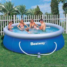 Bestway PILLE puhafalú kerti medence vízforgatóval és védőtakaróval, 366 x 91 cm - készlethiány
