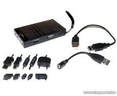 carXpert EMC-001 Napelemes multitöltő (univerzális mobiltelefon / navigáció töltő) USB foglalattal - készlethiány
