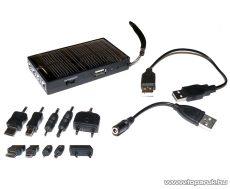 carXpert EMC-001 Napelemes multitöltő (univerzális mobiltelefon / navigáció töltő) USB foglalattal