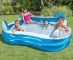 Intex Háttámlás családi medence, kerti medence ülésekkel, 229 x 229 x 66 cm