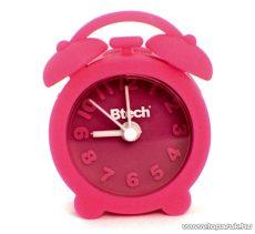 Btech BA-05 Mini szilikon ébresztő óra, rózsaszín
