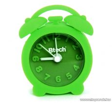 Btech BA-06 Mini szilikon ébresztő óra, zöld