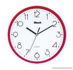 Btech BH-170 Falióra, 25 cm, piros keretes, fehér számlapos