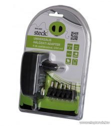 Steck SHA 2250 Változtatható feszültségű hálózati adapter, 2250 mA,  3-12V, forgatható (12040004)