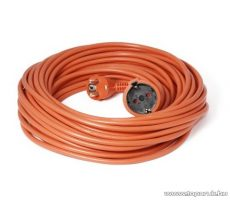 Steck SH 10N Védőérintkezős hálózati hosszabbító (fűnyíró kábel), 10 m, narancs (11011001)