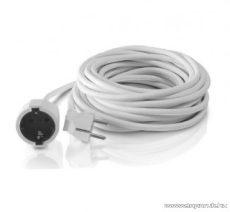 Steck SH 20F Védőérintkezős hálózati hosszabbító (fűnyíró kábel), 20 m, fehér (11012201)