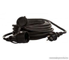 Steck SHL 10 Védőérintkezős kültéri lengő hosszabbító kábel zárófedéllel, 10 m, fekete (11014001)