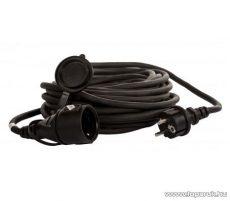 Steck SHL 20 Védőérintkezős kültéri lengő hosszabbító kábel zárófedéllel, 20 m, fekete (11015001)