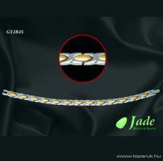 Jade GYJB4S Brillance 4 Orvosi acél, mágneses karkötő, többféle méret