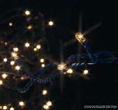 BLACK MICRO KSA 492 Kültéri Micro izzós fényfüzér fekete kábellel, 8,9m, melegfehér