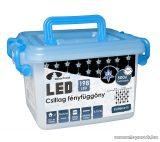 Design Dekor KDS 143 Kültéri 198 LED-es CSILLAG FÉNYFÜGGÖNY, 150 x 150 cm, átlátszó kábellel, hideg fehér világítással