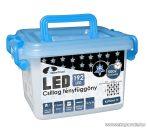 Design Dekor KDS 145 Kültéri 192 LED-es CSILLAG FÉNYFÜGGÖNY, 90 x 200 cm, átlátszó kábellel, hideg fehér világítással