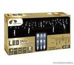 DekorTrend KDS 065 Kültéri STIRIA JÉGCSAPFÜZÉR vezérelhető hóesés effekttel, 200 cm x 50 cm, 65 db hideg fehér fényű LED-es világítással