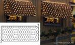 EXPO GALLERY KST 860 Kültéri toldható fényháló EXTRA, 250 x 120 cm, fehér