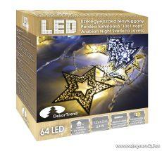 Design Dekor KDE 106 EZEREGYÉJSZAKA Beltéri LED-es fényfüggöny, 64 db meleg és hideg fehér fényű leddel, 120 cm x 120 cm