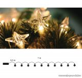 DekorTrend KDE 107 Beltéri ELEMES CSILLAGFÜZÉR, 10 db meleg fehér fényű leddel, 100 cm
