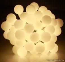 Design Dekor KDG 181 Kültéri design 180 LED-es GYÖNGY FÉNYFÜZÉR, 14,4 m hosszú, zöld színű kábellel, meleg fehér világítással