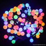 Design Dekor KDG 185 Kültéri design 180 LED-es GYÖNGY FÉNYFÜZÉR, 14,4 m hosszú, zöld színű kábellel, színes (multi) világítással