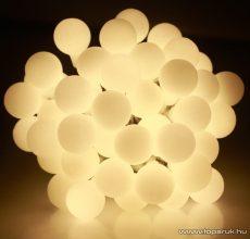 Design Dekor KDG 241 Kültéri design 240 LED-es GYÖNGY FÉNYFÜZÉR, 19,2 m hosszú, zöld színű kábellel, meleg fehér világítással