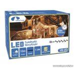 Design Dekor KDK 002 Kültéri toldható kontakt LED fényfüzér, 10 m hosszú, 100 db melegfehér LED-es