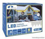 Design Dekor KDK 005 Kültéri toldható kontakt LED jégcsapfüzér, 300 x 40 cm, 101 db melegfehér LED-del