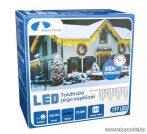 Design Dekor KDK 008 Kültéri toldható kontakt LED jégcsapfüzér, 600 x 40 cm, 197 db hidegfehér LED-del