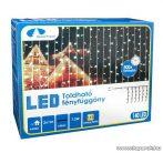 Design Dekor KDK 010 Kültéri toldható kontakt LED fényfüggöny, 200 x 100 cm, 140 db melegfehér LED-del