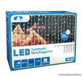 Design Dekor KDK 012 Kültéri toldható kontakt LED fényfüggöny, 100 x 200 cm, 140 db hidegfehér LED-del