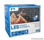 Design Dekor KDK 013 Kültéri toldható kontakt LED fényfüggöny, 200 x 100 cm, 140 db hidegfehér LED-del