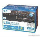 Design Dekor KDK 103 Kültéri toldható kontakt LED-es JÉGSZIKRÁZÓ JÉGCSAPFÜZÉR, 200 x 90 cm, 138 db melegfehér LED-del