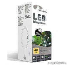 Design Dekor KDL 041 Beltéri LED-es fényfüzér, 40 db melegfehér LED-del