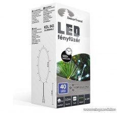 Design Dekor KDL 043 Beltéri LED-es fényfüzér, 40 db kék LED-del