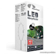 Design Dekor KDL 044 Beltéri LED-es fényfüzér, 40 db piros LED-del