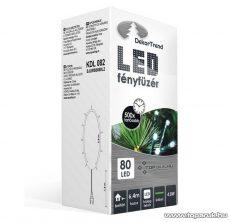 Design Dekor KDL 082 Beltéri LED-es fényfüzér, 80 db hidegfehér LED-del