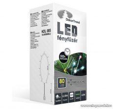 Design Dekor KDL 085 Beltéri LED-es fényfüzér, 80 db színes LED-del