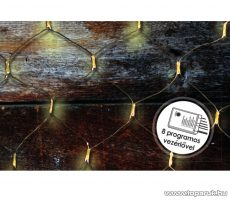 Design Dekor KDL 134 Kültéri LED-es fényháló, 200 x 100 cm, fekete kábellel, 96 db melegfehér LED-del