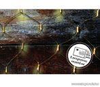 Design Dekor KDL 136 Kültéri LED-es fényháló, 200 x 200 cm, fekete kábellel, melegfehér
