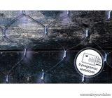 Design Dekor KDL 137 Kültéri LED-es fényháló, 200 x 200 cm, fekete kábellel, 192 db hidegfehér LED-del
