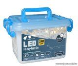 Design Dekor KDVF 241 Kültéri vezérlős LED-es fényfüzér, 8 program, 12 m, fehér kábellel, 240 db melegfehér LED-del