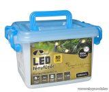 Design Dekor KDV 081 Kültéri vezérlős LED-es fényfüzér, 8 program, 4 db, fekete kábellel, 80 db melegfehér LED-del