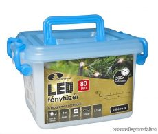 Design Dekor KDV 084 Kültéri vezérlős LED-es fényfüzér, 8 program, 4 m, fekete kábellel, 80 db piros LED-del