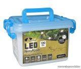 Design Dekor KDV 122 Kültéri vezérlős LED-es fényfüzér, 8 program, 6 m, fekete kábellel, 120 db hidegfehér LED-del