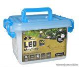 Design Dekor KDV 125 Kültéri vezérlős LED-es fényfüzér, 8 program, 6 m, fekete kábellel, 120 db színes (sokszínű) LED-del