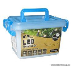 Design Dekor KDV 361 Kültéri vezérlős LED-es fényfüzér, 8 program, 18 m, fekete kábellel, 360 db melegfehér LED-del