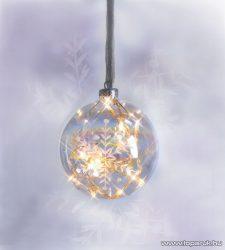 Design Dekor KSA 296 Beltéri Vesta dekorgömb, fehér - készlethiány